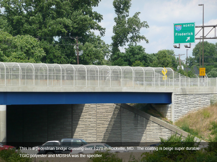 Pedestrian bridge with MDSHA specifier.