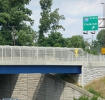 Pedestrian bridge with MDSHA specifier.