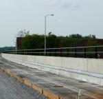 Bridge railing with TGIC powder coating.