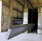 "Aluminum ""H\"" beams coated in TGIC."