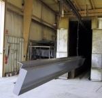"Aluminum \""H\"" beams coated in TGIC."