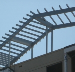 TGIC covered steel structure.