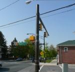 Powder coated traffic poles.