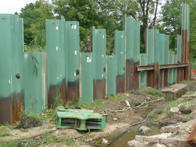 Green sheet pile for NJ DOT